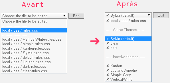 Simplification de la sélection du fichier CSS dans le plugin LocaFiles Editor