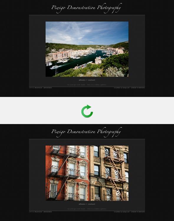 Une photo au hasard sur votre page d'accueil Piwigo.com, une nouvelle à chaque rafraîchissiment
