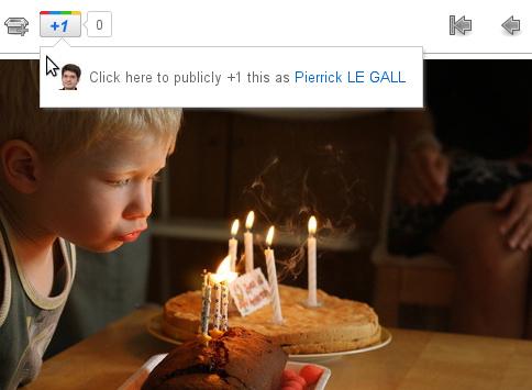 Google+ : +1 publiquement sur une photo