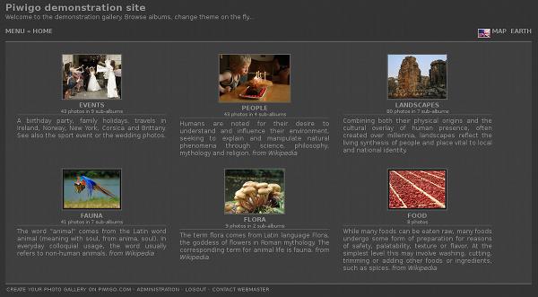Piwigo et theme Simple : il est possible d'afficher le titre et la description de l'album sous la miniature